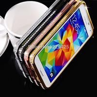 Protective case cover for Samsung S5 phone shell frame,mtal diamond fram
