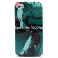 MOQ: 1PCS Free shipping Cartoon Animal Fox Sea Turtle Elephant Printing Soft TPU Phone Cover Cases For iPhone 4 4S New