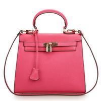 Hot Sale!New Genuine Leather Women Handbag 2014 Fashion Tote Cross Pattern Crossbody Bag Lock Catch Women Leather Handbag Bolsas
