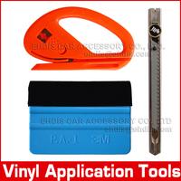 Carbon fiber car sticker installing application tools car styling tools 3m felt squeegee and vinyl cutting tools