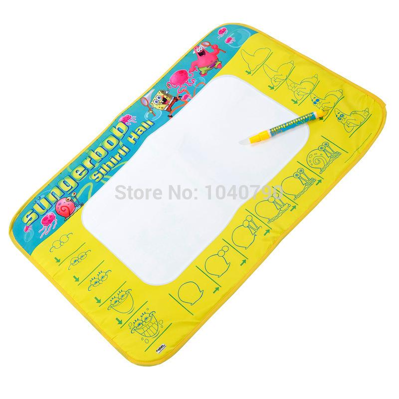 Free Shipping Kid/Baby Painting blanket Magic water write Mat Drawing Game Mat+water Pen Nylon+Sponge+ABS(China (Mainland))