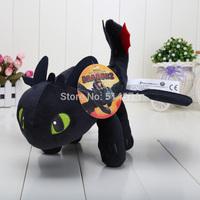"Anime Cartoon How to Train Your Dragon Toothless Night Fury Plush Toy Soft Stuffed Animal Doll 13"" 33cm"