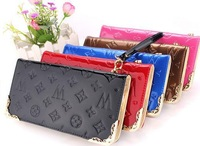 5pc/lot Wholesale 2014 new arrival high quality  Lady women Pu leather  wallet purse 21*11*3cm JW919-2