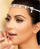Fashion Romantic Wedding Bride Accessories Hair Jewelry Hairwear Tiara Headbands Socialite Same style head jewelry