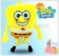Free shipping   Spongebob plush cartoon double backpack bag taobao children burst promotion