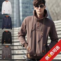 autumn 2014  new men's fashion hoodies Mens hooded slim sport coat 5color