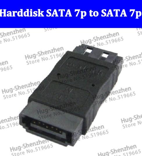 Free ship High Harddisk SATA 7p to SATA 7p Extension Convertor Adapter 100PCS/LOT(China (Mainland))
