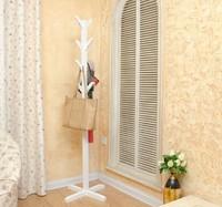 Wholesale! European style white/black coatrack 100% wood coat racks stand,wooden living room furniture,Home Furnishing Decor