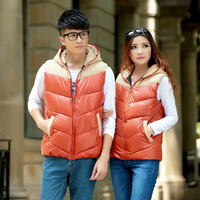 2014 Autumn Winter Pu Plus Size Spliced jaquetas Vests Hooded Zipper Ladies' Motorcycle Bomber Jackets Women' Faux Leather  588