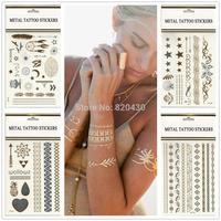 Flash Tattoo~classy Tats~jewelry Inspired~metallic Gold & Silver Glitz 'n Glam