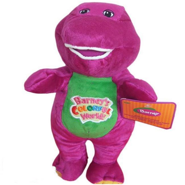 "30CM Barney Dinosaur Sing"" I LOVE YOU"" Song Purple Plush Soft Toy Doll Cartoon Soft Dolls Children Baby Kids Birthday Gift(China (Mainland))"