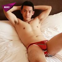 HOT wangjiang Genuine: Free shipping wholesale and retail low-waist sexy fashion men's capsular bag jockstrap underwear: WJa0h