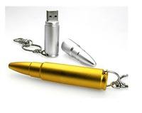 Free Shipping Bullet Flash Drive Full Capacity 1GB/2GB/4GB/8GB/16GB/32GB/64GB Metal Flash Drive