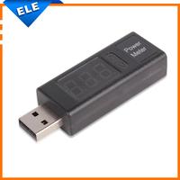 LED usb charger with voltage tester Mini Current usb power tester Meter Detector Voltage Ammeter digital voltmeter For mobile
