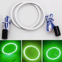 2x 81led Green COB Ring Angel Eye Style Halo Head Light Bulbs Super bright Car
