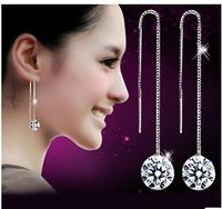 brincos de festa 8mm cz cubic zirconia 925 sterling silver earrings for women #sky-03