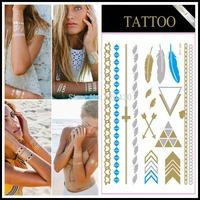 2000pcs/lot, DHL Or Fedex Fastest Shipment. Temporary Tattoo Flash Bling Metallic Jewelry Tattoos