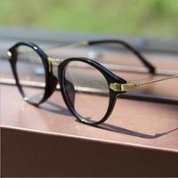 Glasses women Man Eyeglasses frame for  decorate 2014 new plica black box  Eye Glasses Flat glasses round  vintage  1283