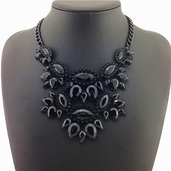 New Unique Necklaces Pendants Black Thick Clavicle Chain Jewelry Statement Necklaces Ladies Dress Special 2015 Return