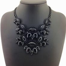 New Unique Necklaces & Pendants Black Thick Clavicle Chain Jewelry Statement Necklaces Ladies Dress Special  2014 Return Value