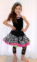 fast shipping baby girls zebra pettiskirt fluffy lace trim 10 pcs/lot hot wholesale animal fashion childrens festival tutus