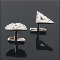 Free shipping! High quality French cufflinks, men's shirt cufflinks, cufflinks pictographic, rulers, wholesale