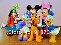 Cut Mickey Mouse Minnie Mouse Donald Duck Clubhouse PVC Figure Set 6 Pcs DS-10258
