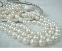 very Beautiful 49 inch 8-9mm White south sea Pearl Necklace 14K