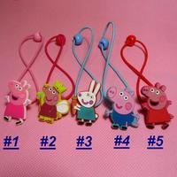 Cute Girls Peppa Pig Hairband Kids George Pig Hair Rope Hairpin Baby Hair Clip 10pcs/ set