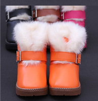 More new children's cotton shoes boy Cotton shoes to keep warm winter boots Girls snow boots