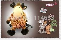 Free shipping   Giraffe plush three-dimensional cartoon series bag bag back
