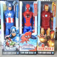 Marvel The Avengers Superheroes Captain American ironman Spiderman Mini PVC Action Figure Toys Dolls 3pcs/set DS-10317