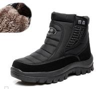 Hot winter men's boots soft leather men boots walking casual snowing boots for men super warm winter men boots size40-44MS9161