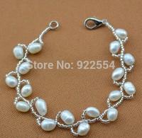 FASHION WOMEN Prepare the wavy 5-6 mm natural pearl bracelet
