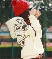 2014 Winter New thick deer pattern Hooded sweatshirt Korean Sweater