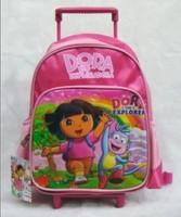 Dora Trolley Case 1pcs 15*9.4*4.7''  38*24*12cm Nylon Dora the Explorer Backpack Child School Bag