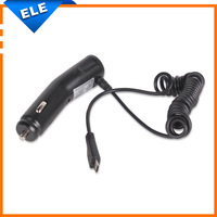 Universal 5 Pin Micro USB Car Charger With Spring Wire cable