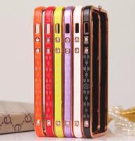 New Style 1Pcs Diamond Shining bumper Bling Rhinestone Phone Bumper/Frame for iPhone 5 5S,Free Shipping