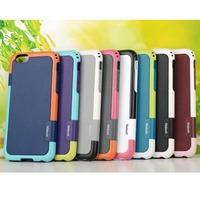 10pcs/lot Fashion Hybrid Walnutt TPU + PC Back Shell Case For Apple iPhone 6 4.7 inch, Free Shipping