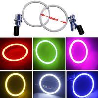 2x 70MM 81 LED Pink COB Chip Car Angel Eyes Headlight Bright Halo Ring Light