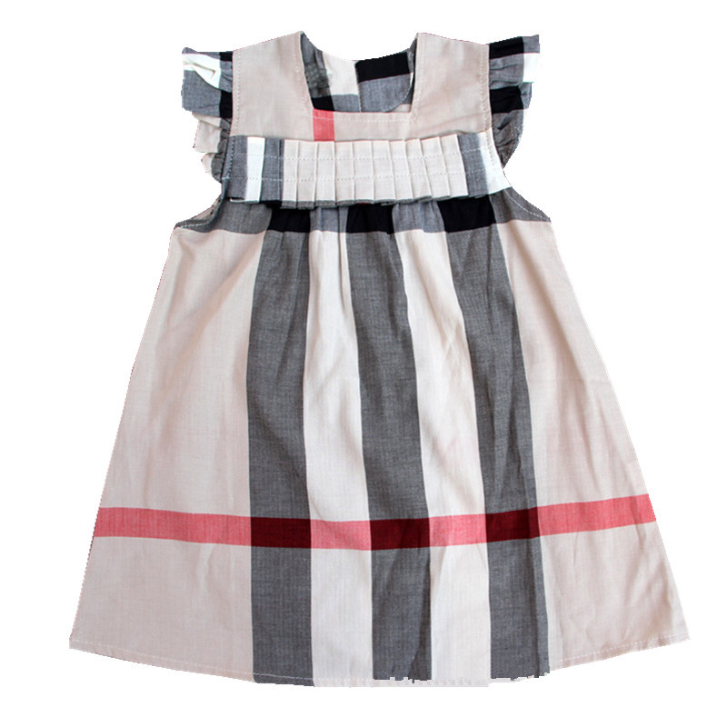 Girls plaid dresses, classic british style, children dresses,100% cotton, spring and summer clothing, casual toddler clothes(China (Mainland))