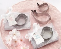 "100pcs=50box ""Tweet Baby"" Mamma and Baby Bird Stainless-Steel Cookie Cutters (Baby Pink) WJ080 Wedding Decoration, Gift"