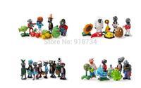 32pcs/set Plants VS Zombies Crazy Party Version PVZ PVC Action Figures Toys Dolls 3-8cm Free Shipping
