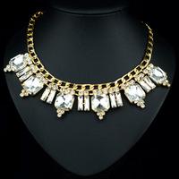 Charming Lady's Best Choice Rhinestiones Made Lamp Pendant Women Statement Chocker Necklace JS-NZ0202