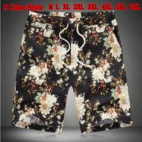 5 Color 2014 Summer Hawaii New Mens Leisure Flower Men Shorts Plus Size Male short Pants Brand Floral Loose Joggers Harem AHZ882