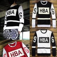 Fashion 2014 NEW winter male sweater HBA 69 hoodies Rocky Mens HIPHOP sport clothing Pyrex hip hop mens long sleeve sweatshirt