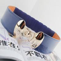 Free shipping 2014 new fashion women trench japanned leather wide hip elastic waist belt strap decorat cummerbund buckle female