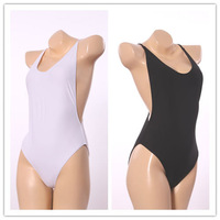 New Arrival White One Piece Backless Swimwear Sexy Bandage high cut one piece swimsuit Women Bathing suits Beach Wear Monokini