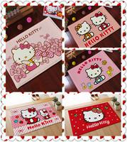 Pink Hello Kitty Mats Coral Fleece Carpet Home Bathroom Doormat absorbent non-slip Floor Mats