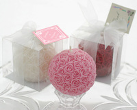 Elegant Rose Ball Wedding Candle LZ005/B Wedding Souvenir or Party Favor, Gifts